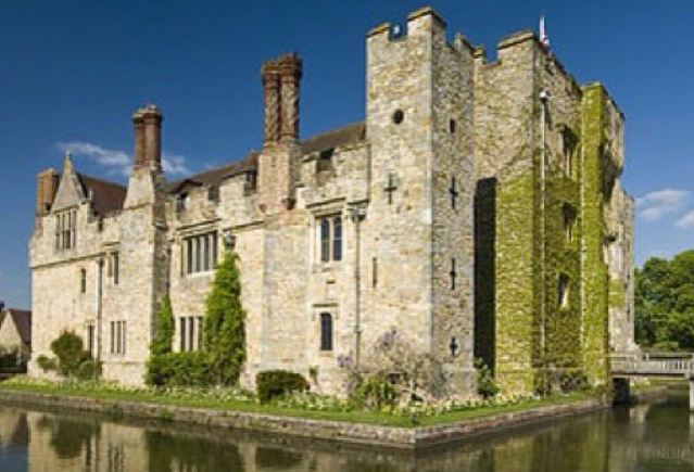 Hever Castle, the Boleyn home.